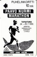 FINLAND - Paavo Nurmi Marathon 93, Turun Puhelin Telecard, Tirage 6000, Exp.date 07/94, Used - Finlande