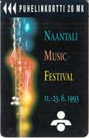 FINLAND - Naantali Music Festival 1993, Turun Puhelin Telecard, Tirage 6000, Exp.date 07/94, Used - Finlande