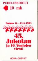 FINLAND - Jukolan 1993, Turun Puhelin Telecard, Tirage 9000, Exp.date 12/94, Used - Finlande