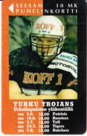 FINLAND - Rugby, Turku Trojans, Turun Puhelin Telecard, Tirage 10000, Exp.date 12/97, Used - Finlande