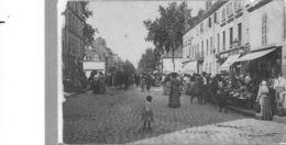 Chalon Sur Saône.Rue Porte De Lyon.animée Marché - Chalon Sur Saone