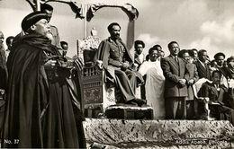 Ethiopia, Emperor Haile Selassie I In Addis Ababa (1950s) RPPC Postcard - Ethiopie