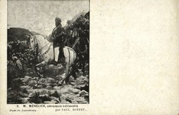 Ethiopia, Emperor Menelik II Sahle Maryam (1899) Postcard - Ethiopia