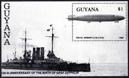Guyana 1989 Zeppelin Souvenir Sheet Unmounted Mint. - Guyana (1966-...)