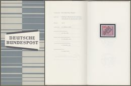"""Bund : Minister Card - Ministerkarte Typ III, Mi-Nr. 428 ** U. ESST : """" 1200 Jahre Benediktinerabtei Ottobeuren """"  R   X - BRD"""