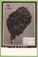 S. Tomé E Princípe - Mapa Da Ilha De S. Tomé - Map - Sao Tome Et Principe