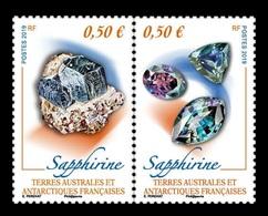 TAAF 2019 Mih. 1032/33 Minerals. Sapphirine MNH ** - Franse Zuidelijke En Antarctische Gebieden (TAAF)