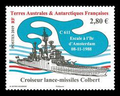 TAAF 2019 Mih. 1034 Ship Colbert Missile Cruiser MNH ** - Franse Zuidelijke En Antarctische Gebieden (TAAF)