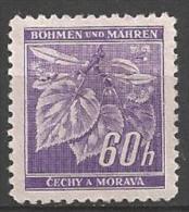 1941 60h Leaves, Mint Light Hinged - Bohemia & Moravia