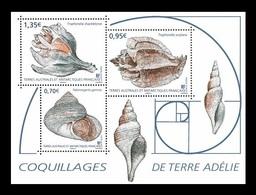 TAAF 2019 Mih. 1042/44 (Bl.69) Marine Fauna. Seachells Of Adelie Land MNH ** - Franse Zuidelijke En Antarctische Gebieden (TAAF)