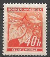 1939 40h Leaves, Mint Light Hinged - Bohemia & Moravia
