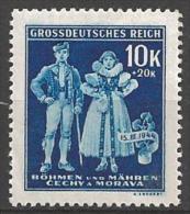 1944 10k+20k Costume, Semi-postal, Mint Never Hinged - Bohemia & Moravia