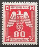 1943 80h Official, Mint Light Hinged - Bohemia & Moravia