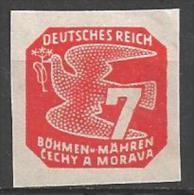 1943 7h, Newspaper, Mint Hinged - Bohemia & Moravia