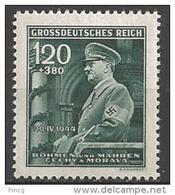1944 1.20k+3.80k Hitler, Semi-postal, Mint Never Hinged - Bohemia & Moravia