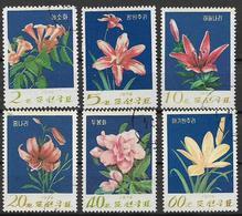 COREA DEL NORD 1974 FIORI DI MONTAGNA YVERT. 1122-1127 USATO VF - Corea Del Nord