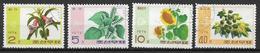 COREA DEL NORD 1975 PIANTE YVERT. 1294-1297 USATA VF - Corea Del Nord