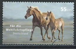 Germany. Scott # B993 Used Semi Postal Stamp. Horses  2007 - Used Stamps