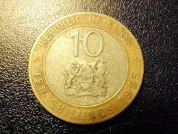 KENYA Coin 10 Shillings - Pres Moi + Seal- 1995 VG-F KM27 - Kenya