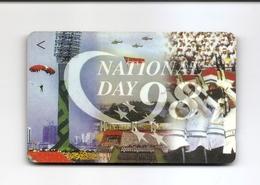 SINGAPORE Telephone Card $5 SingTel National Day 1998 USED NO VALUE - Singapore
