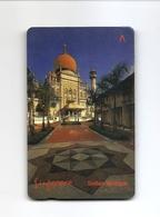 SINGAPORE Telephone Card $5 SingTel Sultan Mosque USED NO VALUE - Singapore