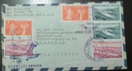 O) 1956 EL SALVADOR, MOTHERLAND AND LIBERTY, GUAYABO DAM-PRESA, HYDROELECTRIC, HOUSING DEVELOPMENT, TO GERMANY, XF - El Salvador