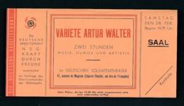 D.-Reich   Eintritt Karte -Gemeinschaft Kraft Durch Freude   (oo5232  ) Siehe Scan - Duitsland