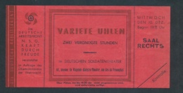 D.-Reich   Eintritt Karte -Gemeinschaft Kraft Durch Freude   (oo5233  ) Siehe Scan - Duitsland