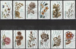 France 2017 - Flowers In Art ( Mi 6724/35 - YT Ad 1410/21 ) Complete Issue - Luchtpost