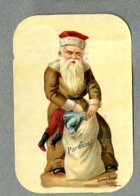 Chromo Poulain Pere Noel Punition Pere Fouettard Santa Claus Paresse Bogeyman Lazyness Punishment Victorian Trade Card - Motiv 'Weihnachten'