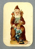 Chromo Poulain Pere Noel Punition Pere Fouettard Santa Claus Punishment Bogeyman Encre Bêtise Victorian Trade Card - Motiv 'Weihnachten'