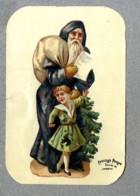 Chromo Poulain Pere Noel Bleu Punition Blue Santa Claus Punishment Bogeyman Pere Fouettard Victorian Trade Card - Motiv 'Weihnachten'