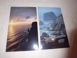 LOT DE 2 CARTES .IRELAND...O'BRIEN'S TOWER ET RUGGED DONEGAL  COASTLINE ..PHOTO PETER ZOLLER - Illustrateurs & Photographes