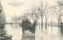 49 ANGERS Inondé Quai National CPA N°4 - Angers