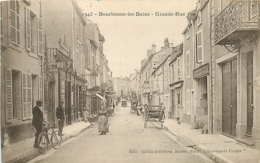 52 BOURBONNE LES BAINS Grande Rue CPA Ed. Gaillard Prêtre 1943 - Bourbonne Les Bains