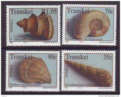 D101225 Transkei 1992 South Africa PREHISTORIC FOSSIL SEA SHELLS MNH Set- Afrique Du Sud Afrika RSA Sudafrika - Transkei