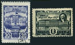 Russia 987-988,CTO.Michel 963-964 Academy Of Science,220th Ann.M.V.Lomonosov. - Sciences