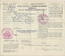 Permission Du 2/8° Régiment De Tirailleurs Tunisiens En 1956 - Historische Documenten