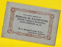 """Catalogue  Locomotives Wagons  """"BASSETT LOWKE & C°"""" 28 Pages + Couverture Format 23 X 15 Cm Env.. - Chemin De Fer"""
