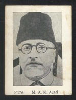 India M.A.K Azad Pioneers Of Freedom Photography Picture View Card Size 9 X 6 Cm - India