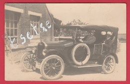 """Beaumont ... Top Carte Photo - Ford T Torpédo , Modèle 1924 , Devant La """" Salle Granwez """"... Contibutions ( Voir Verso ) - Beaumont"""
