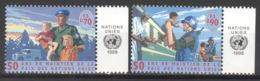 UNO Genf 348/49 Seitenrand ** Postfrisch - Genf - Büro Der Vereinten Nationen
