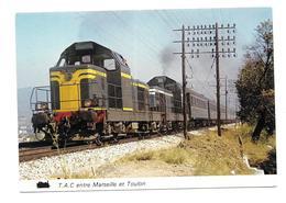 13/ BOUCHES Du RHONE...Double Traction De BB 66000 En Tête D'un TRAIN Entre Marseille Et Toulon ( Cliché Aout 1964) - France