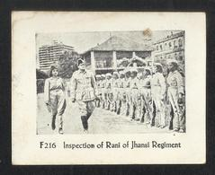 India Inspection Of Rani Of Jhansi Regiment Photography Picture View Card Size 8 X 6 Cm - India