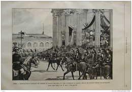 Paris - Translation Au Panthéon Des Cendres De Carnot, Marceau, La Tour D'Auvergne Et Baudin - Page Original 1889 - Documents Historiques