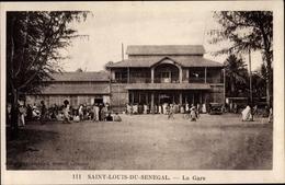 Cp Saint Louis Senegal, La Gare, Bahnhof - Senegal