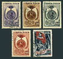 Russia 1021-1025,CTO.Michel 1003-1007. WW II.Victory Medals,Stalin.1946. - WW2