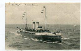 CPA  Bateau : Dieppe Steamer   FRANCE   VOIR  DESCRIPTIF §§§ - Paquebots