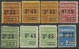 France - Colis Postaux - N° 147 à 154 Neufs Avec & Sans Charnière. - Colis Postaux