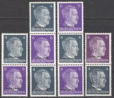 Ostland Zusammendrucke S1/4 ** Postfrisch - Besetzungen 1938-45